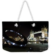 Night View Of The Thames Riverbank Weekender Tote Bag