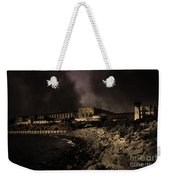 Nightfall Over Hard Time - San Quentin California State Prison - 5d18454 - Partial Sepia Weekender Tote Bag