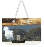 Nina's Canon Scares Ducks Off River Weekender Tote Bag