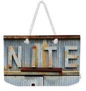 Nite Rusty Metal Sign Weekender Tote Bag