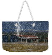 No Matter The Weather-work Goes On Weekender Tote Bag