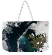 North Atlantic Bloom Weekender Tote Bag by Science Source