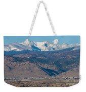 North Boulder Colorado Front Range View Weekender Tote Bag