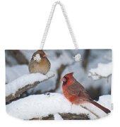 Northern Cardinal Pair 4284 2 Weekender Tote Bag