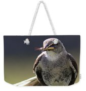 Northern Mockingbird - Lunch Is On The Way Weekender Tote Bag