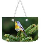 Northern Parula Parula Americana Male Weekender Tote Bag