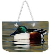 Northern Shoveler Anas Clypeata Male Weekender Tote Bag