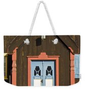 Norwegian Wooden Facade Weekender Tote Bag