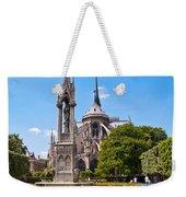 Notre Dame Cathedral Backside Weekender Tote Bag