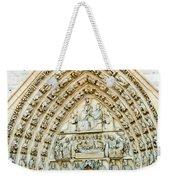 Notre Dame Cathedral Center Entry Weekender Tote Bag