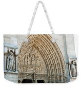 Notre Dame Cathedral Right Entry Door Weekender Tote Bag
