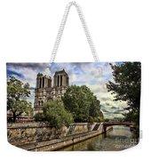 Notre Dame On The Seine Weekender Tote Bag