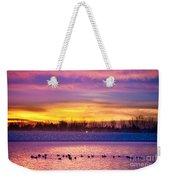 November Lagerman Reservoir Sunrise  Weekender Tote Bag by James BO  Insogna
