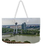 Novy Most Bridge - Bratislava Weekender Tote Bag