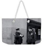 Ny Beat Cops Holding The Banana Republic Weekender Tote Bag