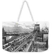 Ny: Brooklyn Bridge, 1883 Weekender Tote Bag