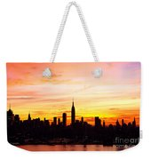 Ny Saturday Sunrise Weekender Tote Bag