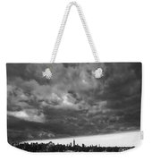 Ny Skyline Approaching Storm Weekender Tote Bag