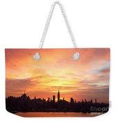 Ny Skyline -daybreak Splendor Weekender Tote Bag