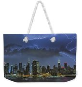 Nyc All Charged Up Weekender Tote Bag