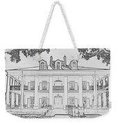 Oak Alley Sketch Weekender Tote Bag