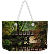 Oak Bridge In Fall Weekender Tote Bag