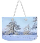 Oak In Snow Weekender Tote Bag