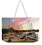 Oak Pt Harbor At Sunset Weekender Tote Bag