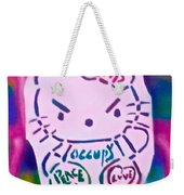 Occupy Kitty Weekender Tote Bag