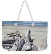 Ocean Beach Driftwood Art Prints Coastal Shore Weekender Tote Bag