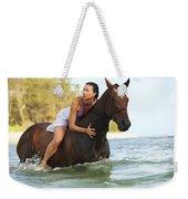 Ocean Horseback Rider Weekender Tote Bag