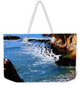 Ocean Lines Weekender Tote Bag