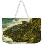 Ocean Pounded Rock  Weekender Tote Bag