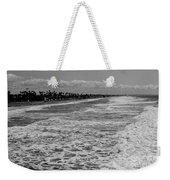 Oceanside In Black And White Weekender Tote Bag