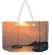 Ocracoke Island Harbor Sunset Weekender Tote Bag