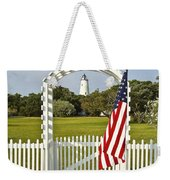 Ocracoke Lighthouse July 4th Weekender Tote Bag by Bill Swindaman