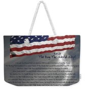 Ode For September Eleven Anniversary Weekender Tote Bag