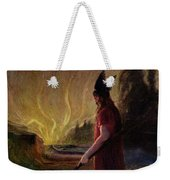 Odin Leaves As The Flames Rise Weekender Tote Bag by H Hendrich