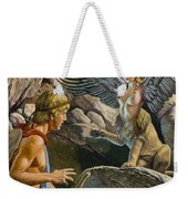 Oedipus Encountering The Sphinx Weekender Tote Bag