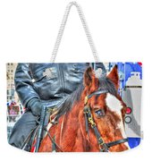 Officer On Brown Horse Weekender Tote Bag