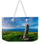 Ogham Stone, Dunmore Head, Dingle Weekender Tote Bag