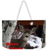 Oh Deer Merry Christmas Weekender Tote Bag