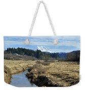 Ohop Valley View Of Rainier Weekender Tote Bag