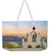 Oia In Santorini Weekender Tote Bag