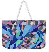 Blue Barge Through The Purple City Weekender Tote Bag