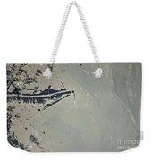 Oil Slick, Mississippi River Delta Weekender Tote Bag by NASA/Science Source
