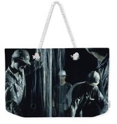 Oilmen Covered In Mud Pull Up A Drill Weekender Tote Bag