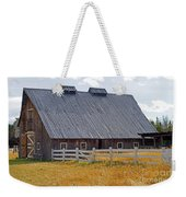 Old Barn And Fence Weekender Tote Bag