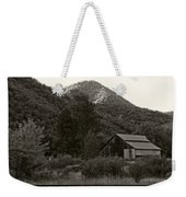 Old Barn In Black And White Weekender Tote Bag
