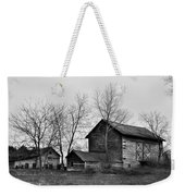 Old Barn In Monochrome Weekender Tote Bag